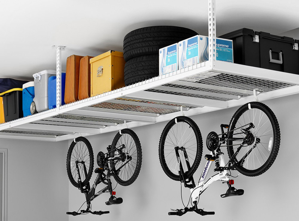 accessories overhead and garage attitude ceiling storage racks wall